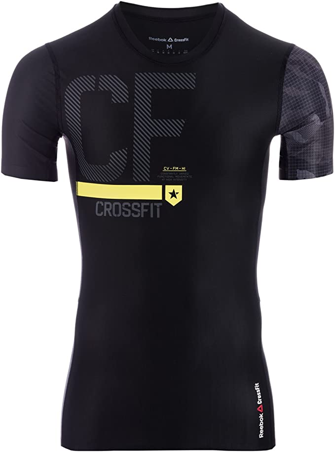 Reebok TS AOP Compression SS T-Shirt /à Manches Courtes Homme