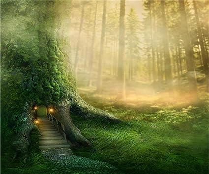 Amazon com : AOFOTO 12x10ft Magic Forest Tree House