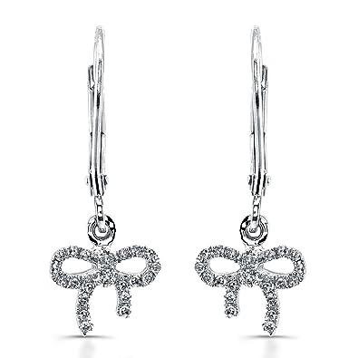 Amazon Victoria Kay 14k White Gold Diamond Bow Earrings 1