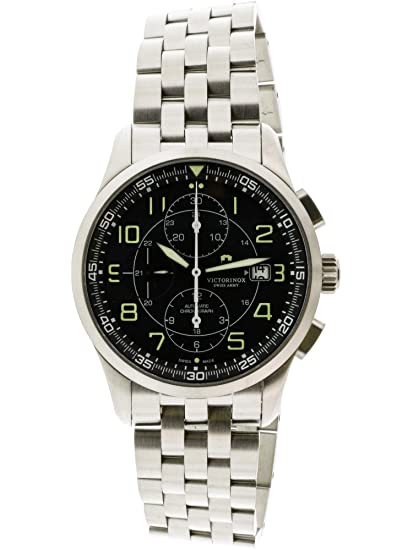 3fccd95ea21 Victorinox Swiss Army Men s Airboss 241620 Silver Stainless-Steel Swiss  Automatic Watch  Victorinox  Amazon.ca  Watches