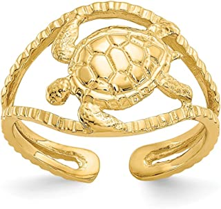 Black Bow Jewellery Company : Sea Turtle Toe Ring in 14K Yellow Gold