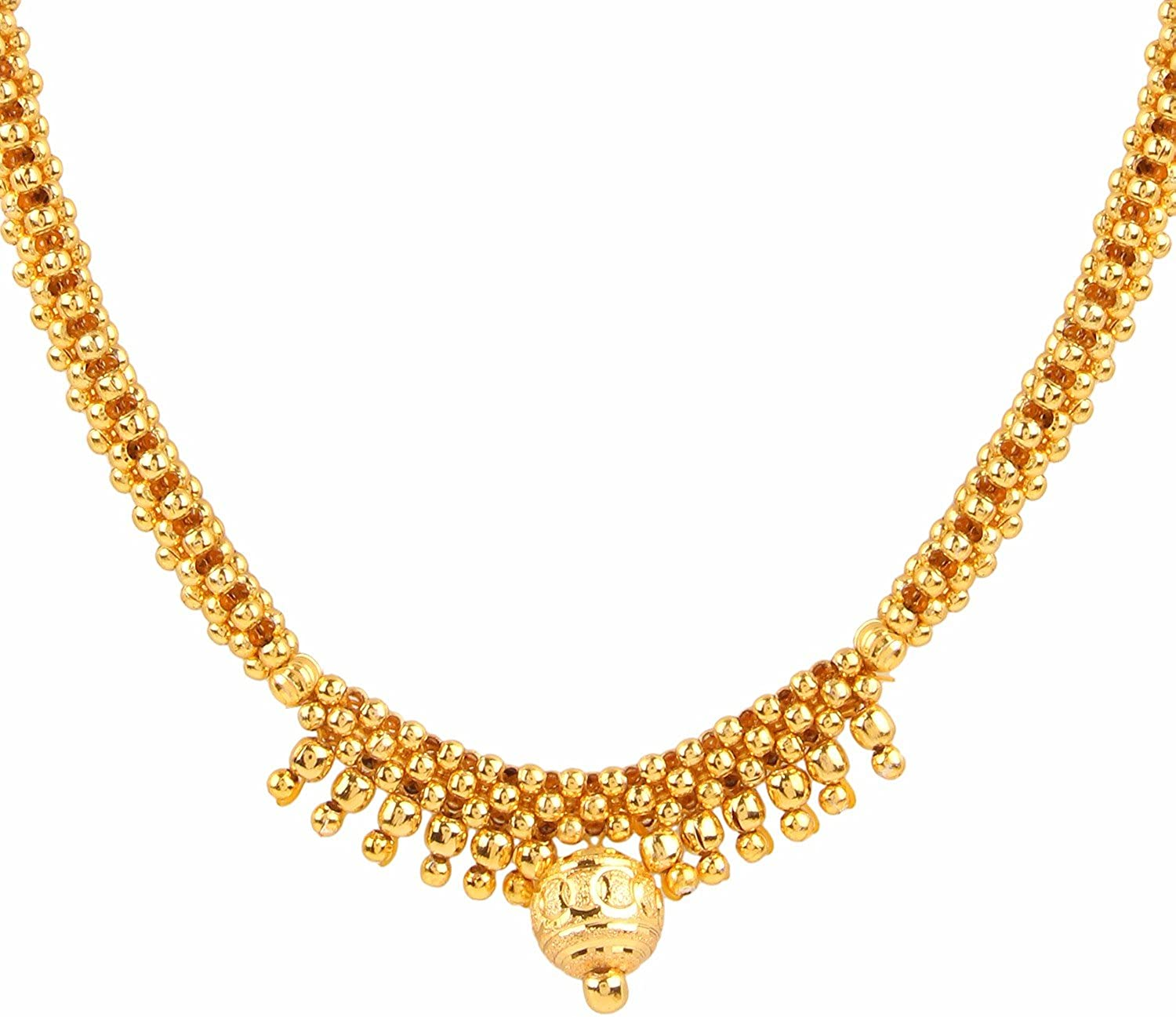 Efulgenz Indian Bollywood Traditional Heavy Bridal Designer Jewelry Choker Necklace Set in Antique 18K Gold Tone for Women and Girls
