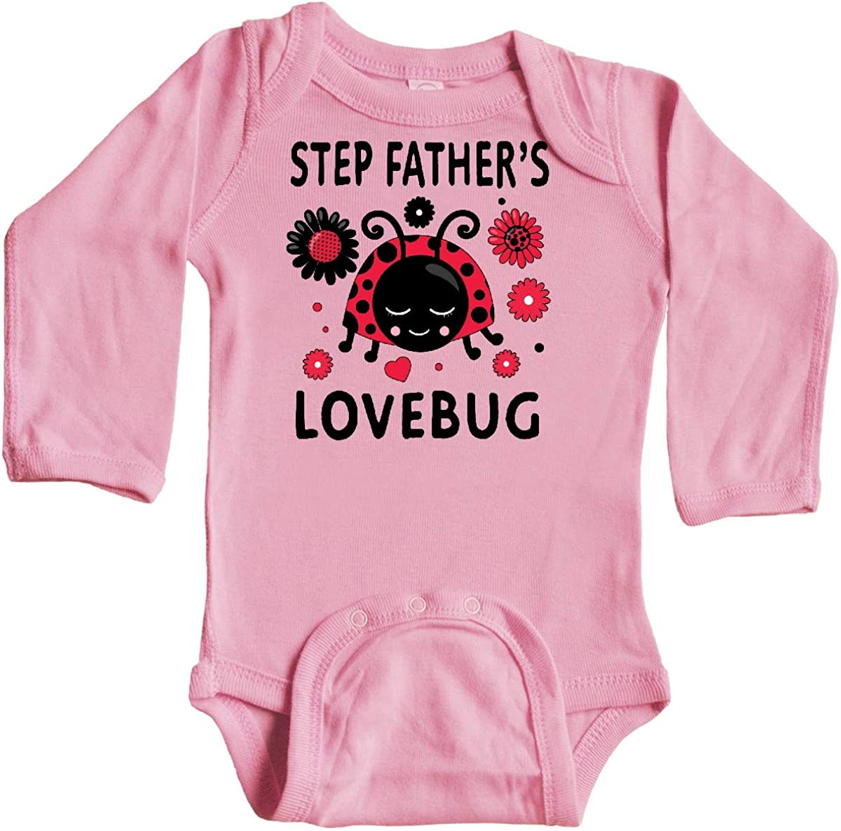 inktastic Valentines Day Step Fathers Lovebug Long Sleeve Creeper