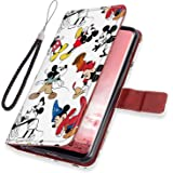 DISNEY COLLECTION Leather Folio Flip Case Fit for Samsung Galaxy S8 (2017) 5.8in Mickey Mouse Protect