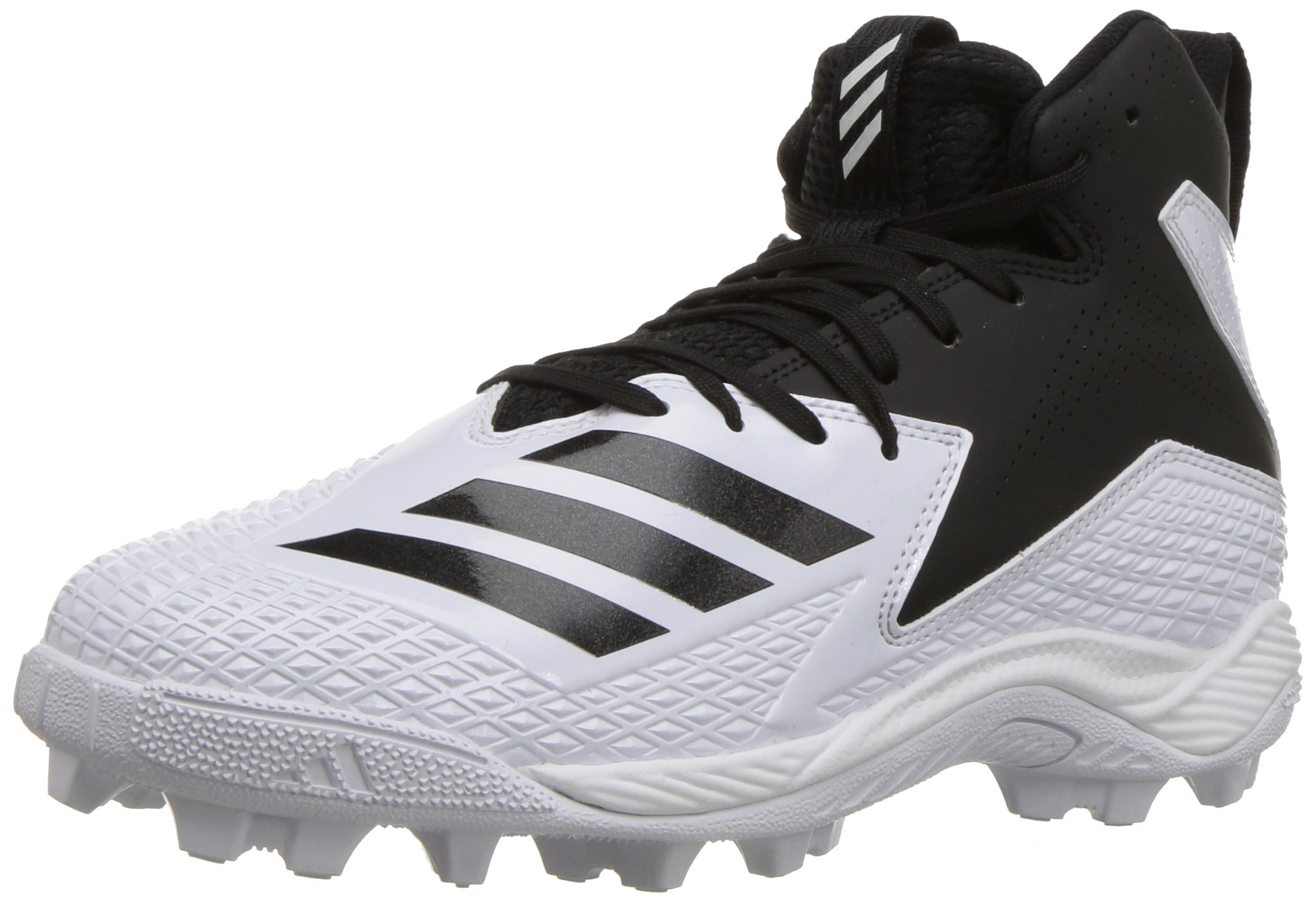 adidas Unisex Freak Mid MD Wide J Football Shoe, FTWR White, core Black, 4.5 M US Big Kid