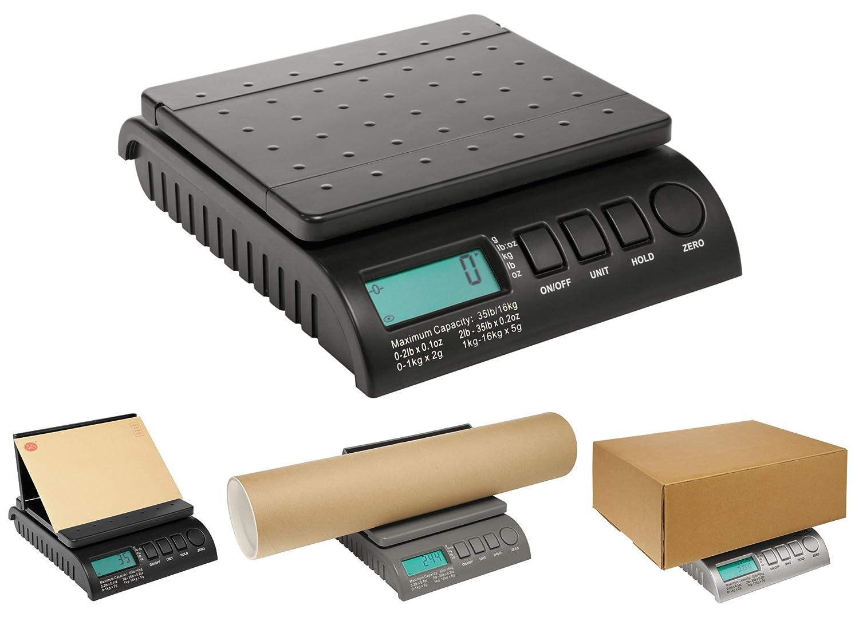 Postship, bilancia digitale da 40kg, nera, per lettere postali, pacchetti, spedizioni ABCON Scales & Balances PS400B