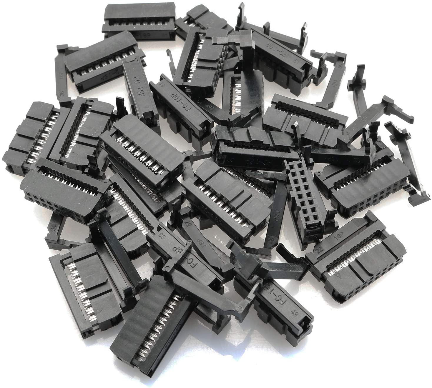 100Pcs 2.54mm Pitch 2x8 Pin 16 Pin IDC FC Female Header Cable Socket Connector