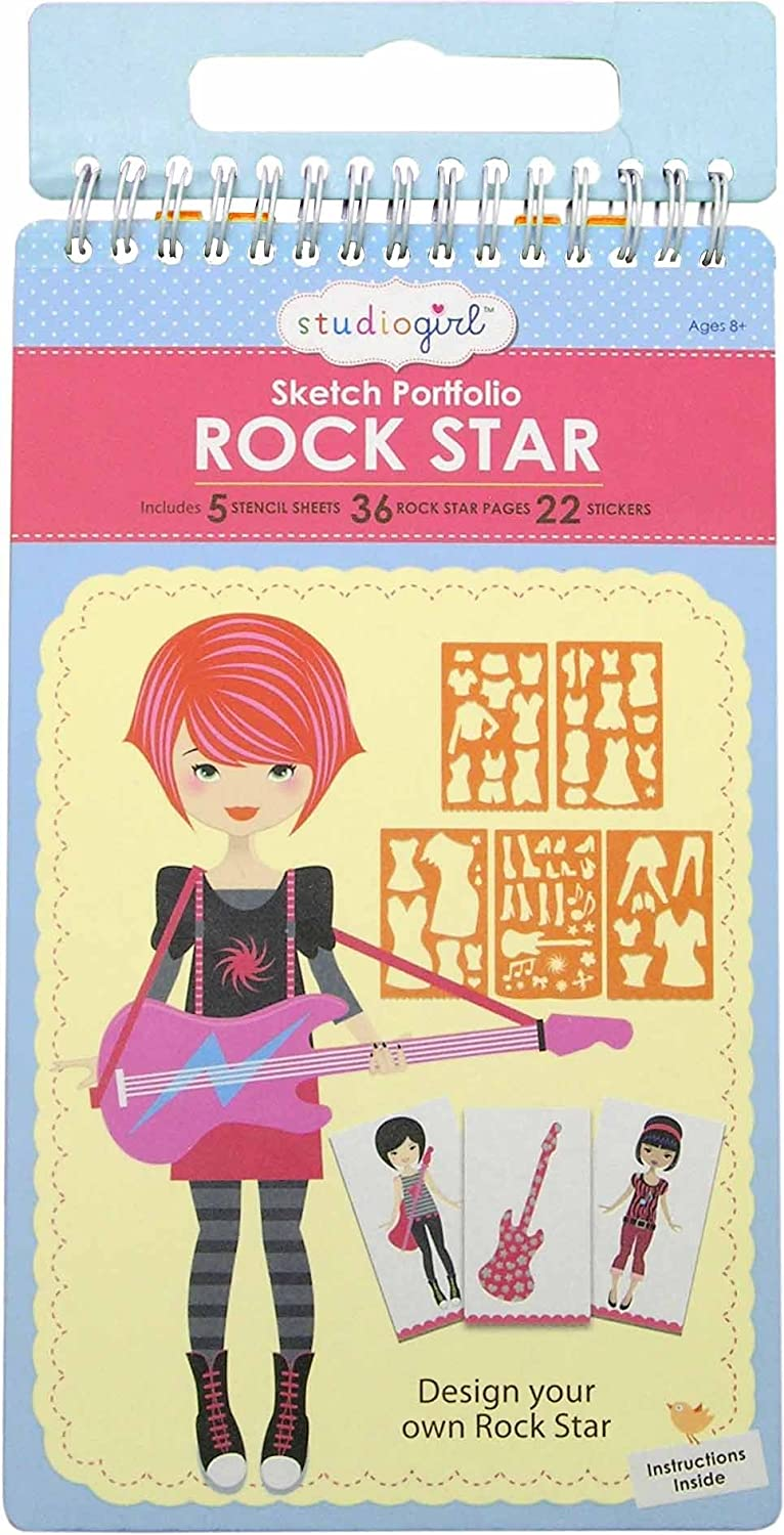 Grant Studios Rock N Roll Sticker Kit My Studio Girl AA1219