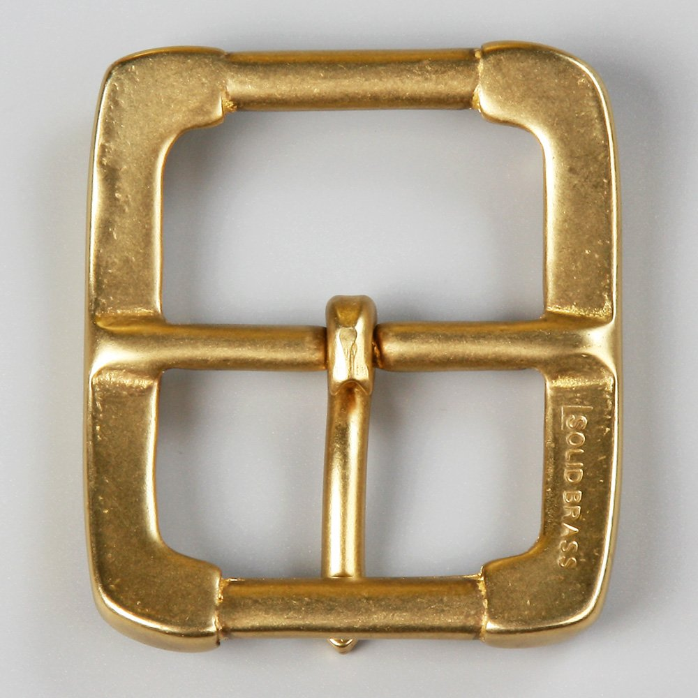 WUTA Men//Womens Solid Brass Belt Buckle Strap Center Pin Style Heel Bar DIY Leathercraft Hardware Style #001, 40mm Inner Width
