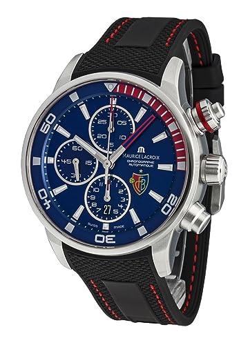 Maurice Lacroix Pontos - Reloj de pulsera para hombre FC Basel - Fecha Cronógrafo Automático pt6008 de SS001 - 432: Amazon.es: Relojes