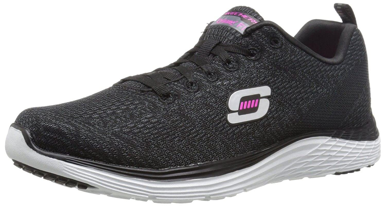 df5d26d080bd Skechers Valeris Black White Pink Womens Trainers Shoes-5  Amazon.co.uk   Shoes   Bags