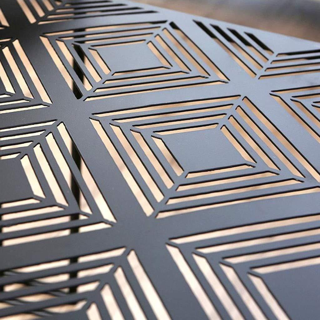 Mesa Lateral de Hierro Mesa Auxiliar Plazoleta Mesa de Metal Mesa for sof/á Dormitorio Mesita de Noche Sala de Estar Negro Zcyg Mesita/ de /Caf/é,Auxiliar /Mesa