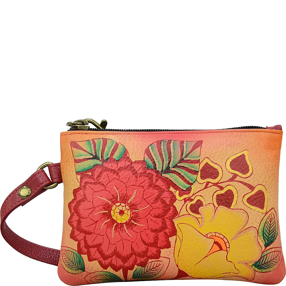 Anna by Anuschka Hand Painted Leather Women'S Coin Purse, Summer Bloom