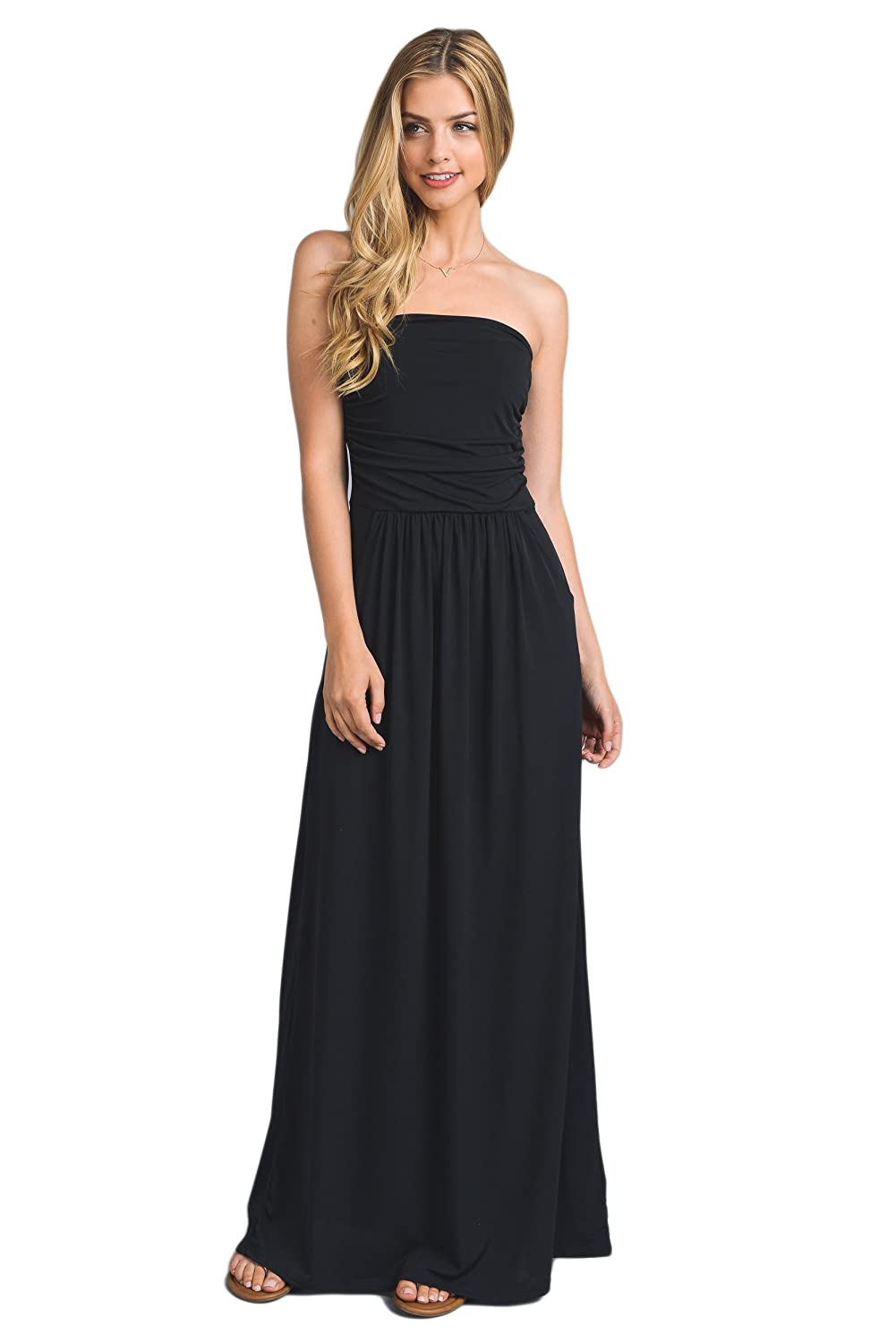317139f1b283 Vanilla Bay Solid Maxi Dress, X-Large, Black at Amazon Women's Clothing  store: