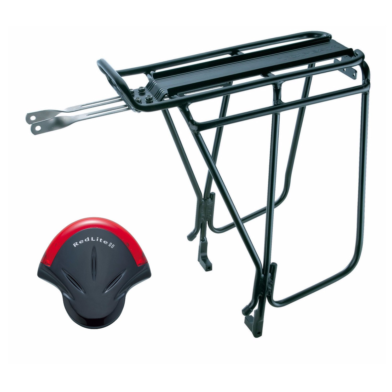 Topeak Super Tourist Bike Trunk Rack DX Disc and RedLite II Bicycle Tail Light
