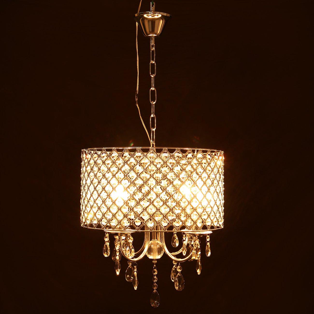 GroB Iglobalbuy Kritall Hängelampe Lampeschirm Kronleuchter Modern Deckenlampe  Pendelleuchte: Amazon.de: Beleuchtung