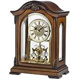 Bulova B1845 Durant II White & Grey Dial Walnut Wood Mantel Clock
