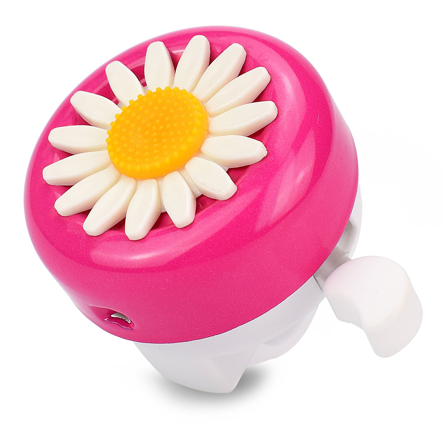 Girls Pink Daisy Bicycle Bell Child Safety Horns Bike Accessory Toy