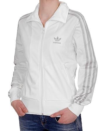 Adidas DS Logo Firebird TT Jacke Retro-Style Running White Metallic Silver  Weiss, Größe 9fbe8a910e