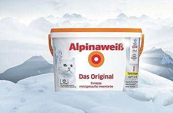 Weiße Wandfarbe alpinaweiß das original 10 liter weiße wandfarbe höchste