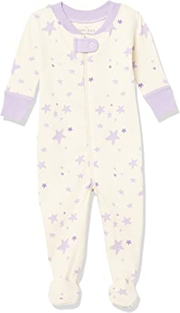 Moon and Back de Hanna Andersson - Pijama de una pieza con pies hecho de algodón orgánico para bebé
