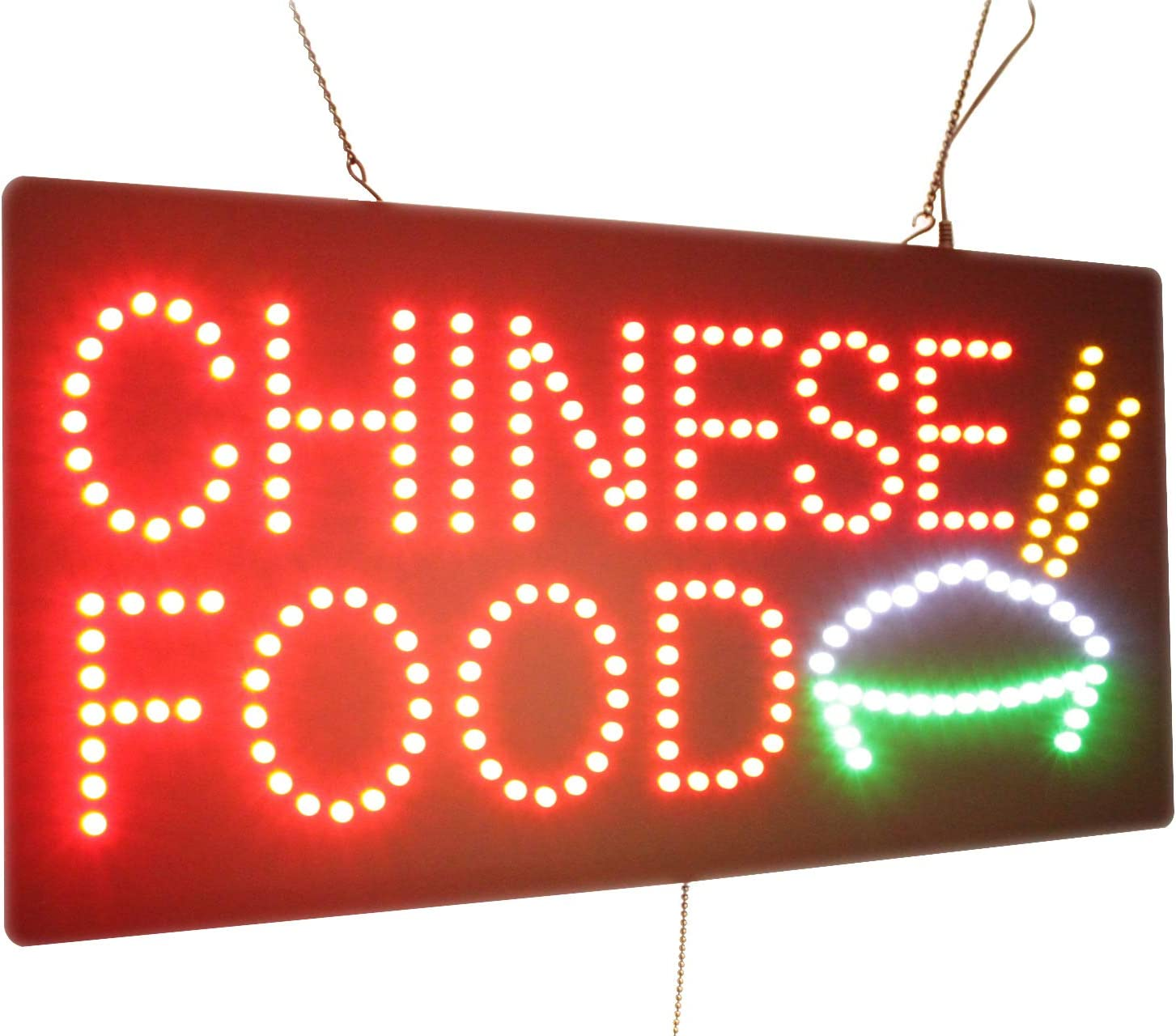 Chinese Food Sign, TOPKING Signage, LED Neon Open, Store, Window, Shop, Business, Display, Grand Opening Gift