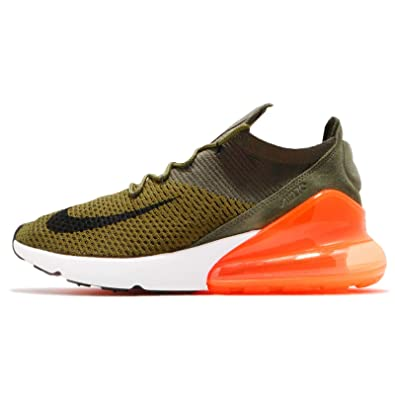 1cc04e2e83 Amazon.com | NIKE Mens Air Max 270 Flyknit, Olive Flak/Black-Cargo Khaki, 8  M US | Sandals