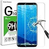 Galaxy S8 Pellicola Protettiva, Rusee Pellicola Protettiva in Vetro Temperato Protezione Dello Schermo Protettore Glass Screen Protector Film per Samsung Galaxy S8 - Trasparenza ad alta definizione, Anti-riflesso, Anti-Bolla, Durezza 9H, Bordi Arrotondati da 2.5D