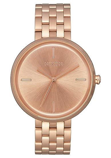 Nixon Reloj Analogico para Mujer de Cuarzo con Correa en Acero Inoxidable A1171-897-00: Amazon.es: Relojes