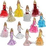 Miunana 3x Princesa Vestidos de noche Novia Ropa Hermoso Vestir de Fiesta para Barbie Muñeca - Estilo al azar