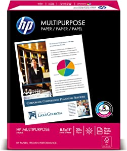 HP 115100 Multipurpose Paper, 96 Bright, 20 lb, Letter, White, 2500 Sheets/Carton