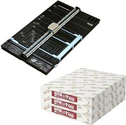 プラス 裁断機 ハンブンコ A3 + コピー用紙 A3 1500枚 (500枚×3冊) セット