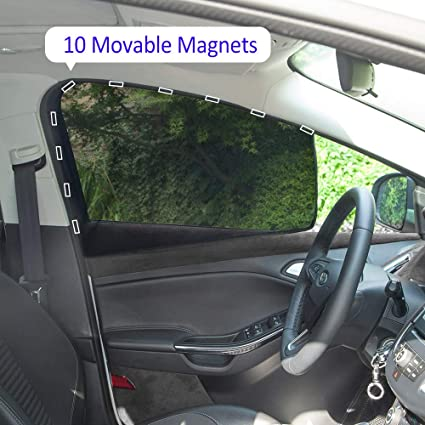 Car Window Shades >> Aokway Car Sun Shade Car Side Window Shade Mesh Magnetic Universal Fit For Rv Truck Uv Protection 2 Pcs Front