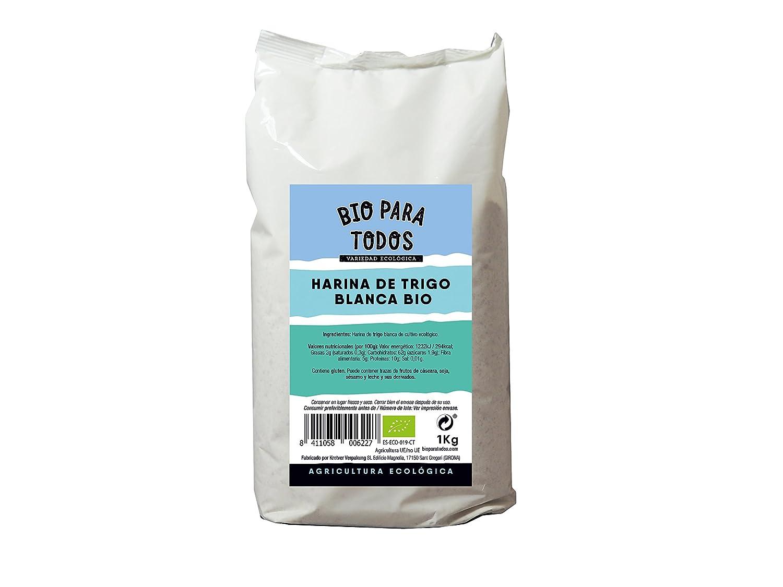 Bio para todos Harina Blanca de Espelta - 5 Paquetes de 1000 gr ...
