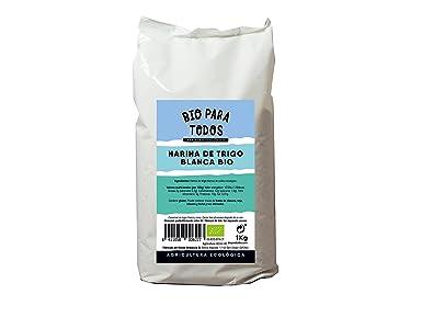 Bio para todos Harina Blanca de Espelta - 5 Paquetes de 1000 gr - Total: 5000 gr: Amazon.es: Alimentación y bebidas