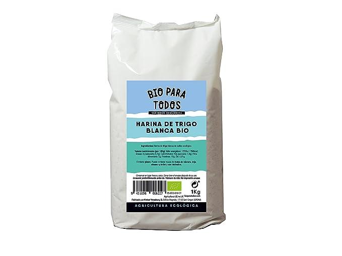 Bio para todos Harina Blanca de Espelta - 5 Paquetes de 1000 gr - Total: