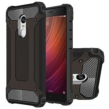 Hongmi Note4 Funda, HICASER Híbrida Case [Heavy Duty] Rugged Armor Cover, Dual Layer Shock Resistant Carcasa para Xiaomi Redmi Note 4 Negro