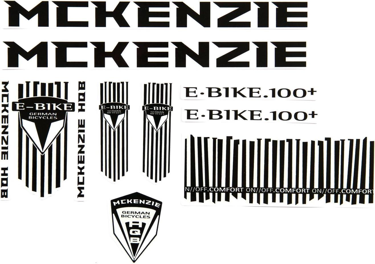 Fahrrad Dekor Satz Aufkleber Rahmen Frame Decal Sticker Mc Kenzie Schwarz Weiß Sport Freizeit