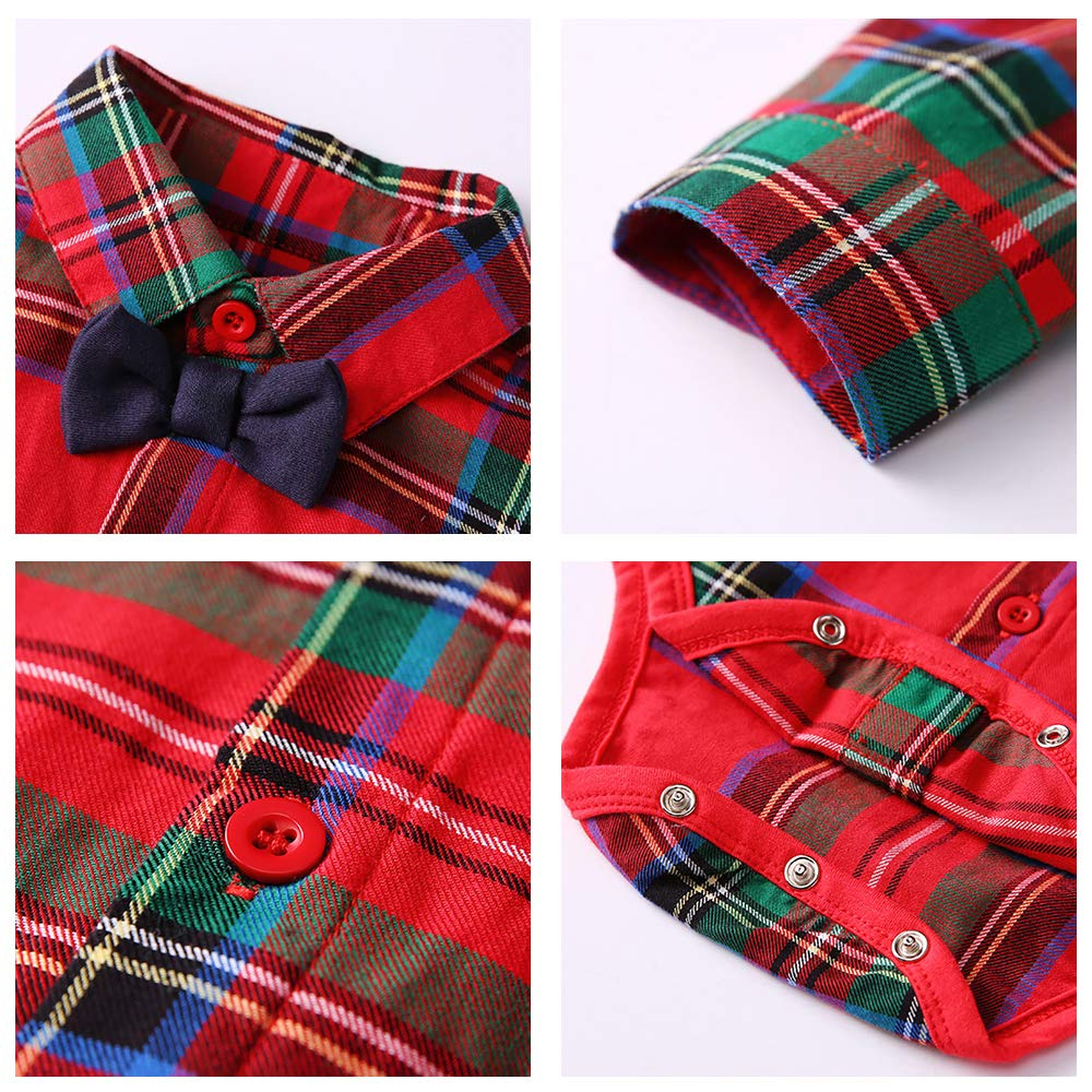 Newborn Baby Boy Clothes Bowtie Bodysuits and Suspenders Pants 2pcs Outfits Clothing Set