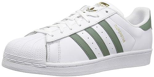 new style fe0ff b15d8 Adidas Superstar Foundation, Scarpe Sportive da Uomo, Superstar, Bianco   Amazon.it  Scarpe e borse