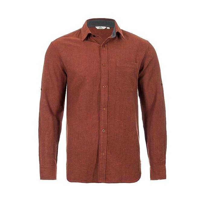 1204a583453052 Himal Natural Fibres Mens Organic Cotton   Hemp Casual Shirt - White ...
