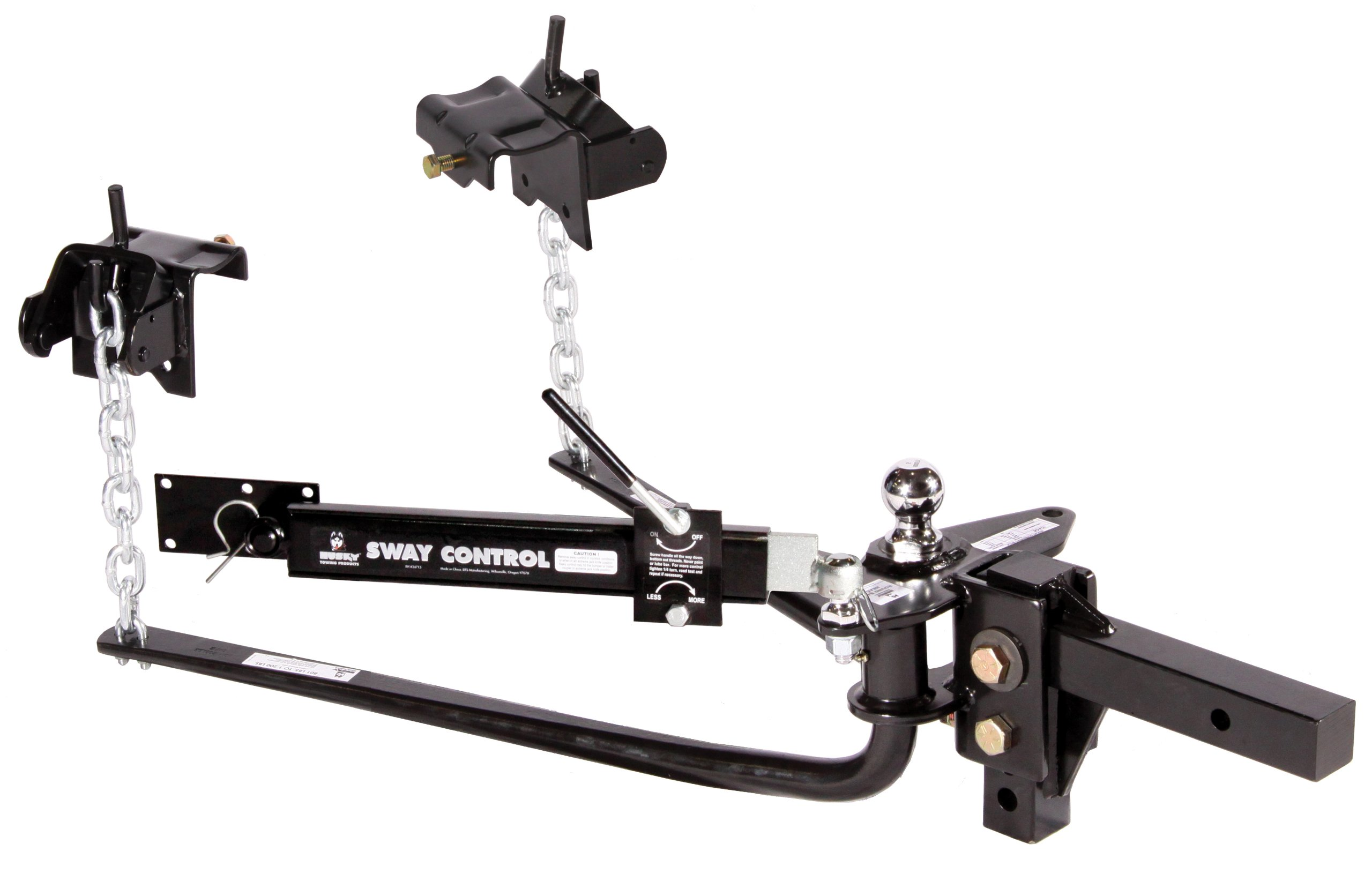 Husky 30849 Round Bar Weight Distribution Hitch with Sway Control