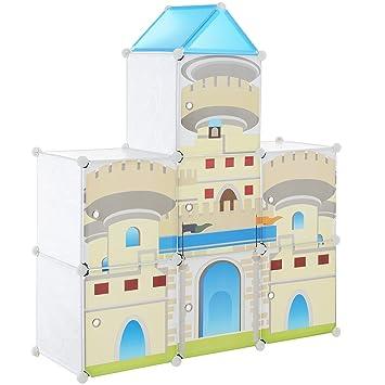 Diy steckregal kunststoff  neu.haus] Kinder Regalsystem DIY mit 7 Fächern [129,5x111cm ...