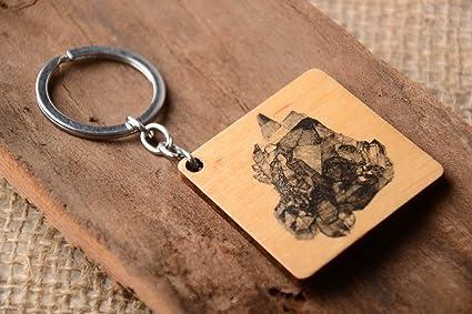 Llavero de madera hecho a mano inusual regalo original ...