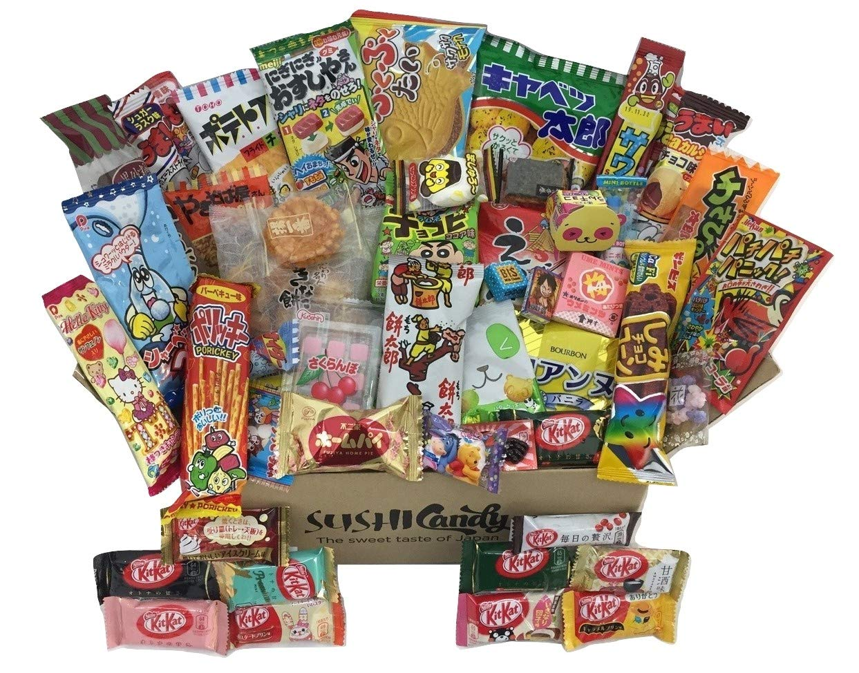 50 Japanese Candy & Snack POPIN COOKIN box set, big Japanese kitkat assortment (10 pieces) and other popular sweets