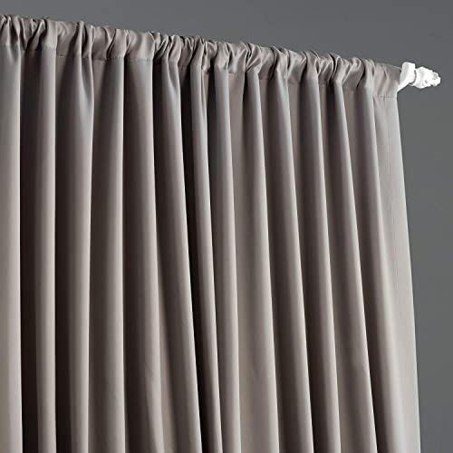 HPD Half Price Drapes BOCH-174402-84-DW Extra Wide Blackout Room Darkening Curtain 1 Panel , 100 X 84, Neutral Grey