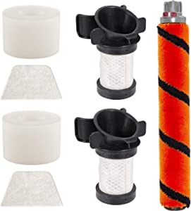HIMrHEPA Replacement Filters and Brush Compatible with Shark ION Flex DuoClean IF100 X30 X40 F60 F80 IF200 IF201 IF202 IF203Q IF205 IF251 IF252 IF281 IF282 IF285 UF280 IC205 IR70 IR100 IR101 Vacuum