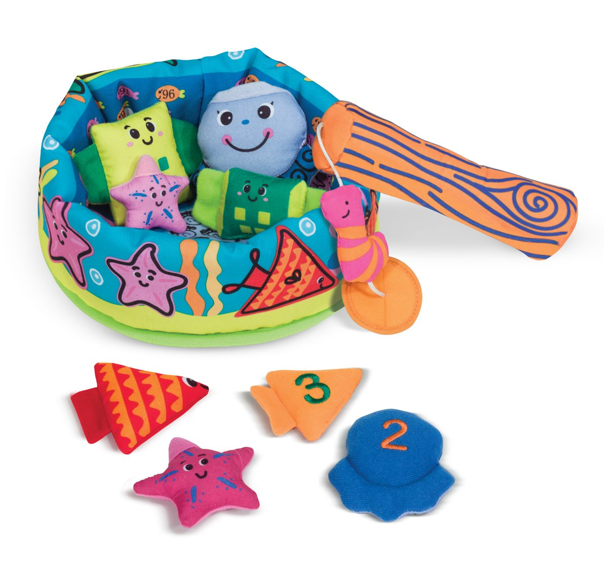 Melissa Doug K's Kids Fish and Count Learning Game With 8 Numbered Fish to Catch and Release