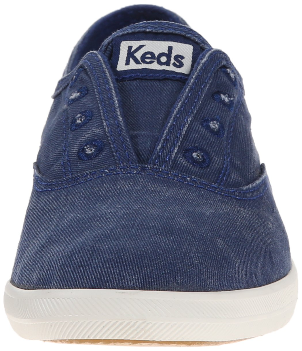 Keds Women's Chillax Washed Laceless Slip-On Sneaker B00MC3SAEG 7 B(M) US|Navy