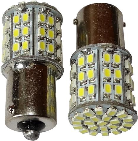 con 8 LED SMD porta di garage per camion portone Set di 2 lampadine P21W//R10W//R5W colore: Rosso 24 V Aerzetix semirimorchio